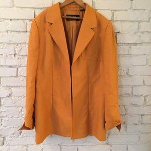 Dana Buchman Mustard Jacket Blazer